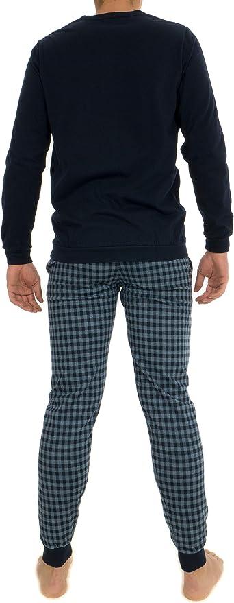 Guasch - Pijama de algodón de punto azul XXL: Amazon.es: Ropa