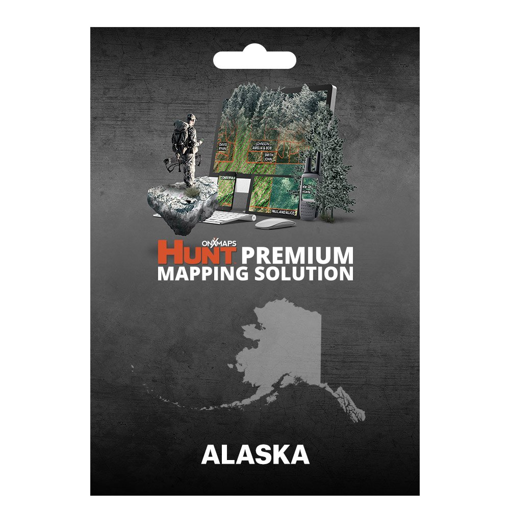 onXmaps HUNT Alaska: Digital Hunting Map For Garmin GPS + Premium Membership For Smartphone and Computer - Color Coded Land Ownership - 24k Topo - Hunting Specific Data by onXmaps