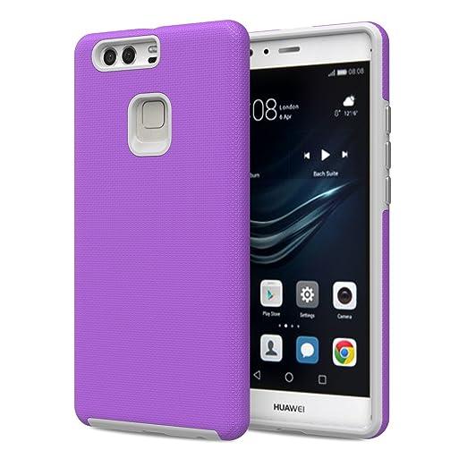 6 opinioni per MoKo Huawei P9 Plus Case- [Anti-Scivolo] Custodia Protettiva di Armatura Ibrida