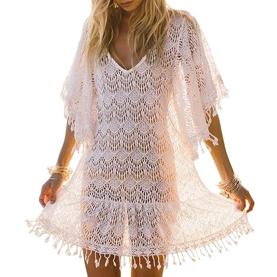 Ibaste Playa Vestidos Largos Blusas Mujer Sexy Tejidos