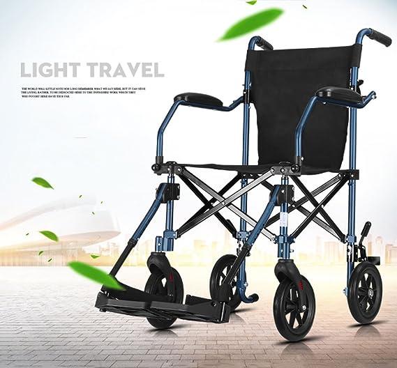 Silla de ruedas Plegable, BMX Manual portátil, Carretilla Mayor, Vespa del Recorrido de los Ancianos: Amazon.es: Deportes y aire libre