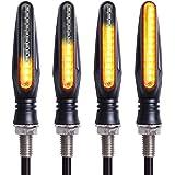 Kinstecks 4PCS Motorcycle Indicators Flowing Turn Signal Lights Motorbike Turning Indicators 12V 12 LEDs Bulbs