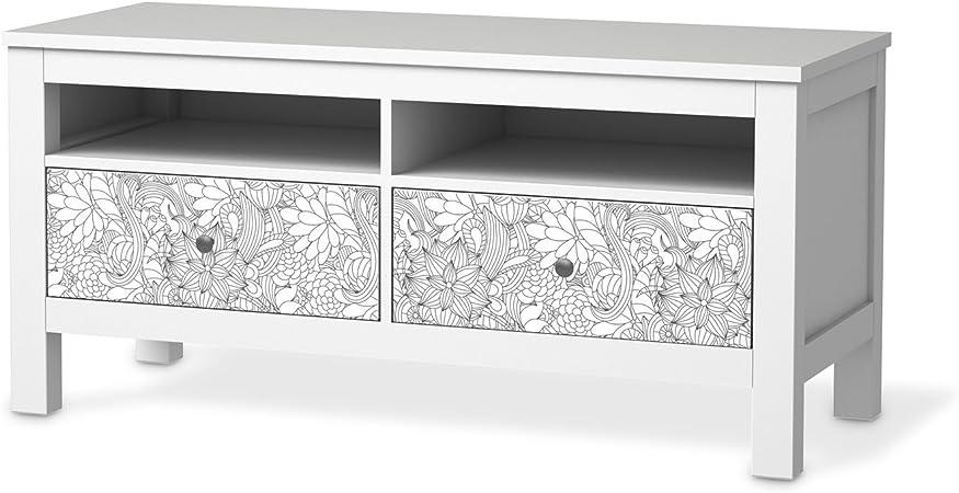 Muebles de Tattoo para Ikea hemnes TV de banco 2 cajones pantalla Dekor Pegatinas para Muebles