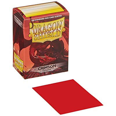 Dragon Shield Deck Protective Sleeves for Gaming Cards, Standard Size (100 sleeves), Crimson: Toys & Games