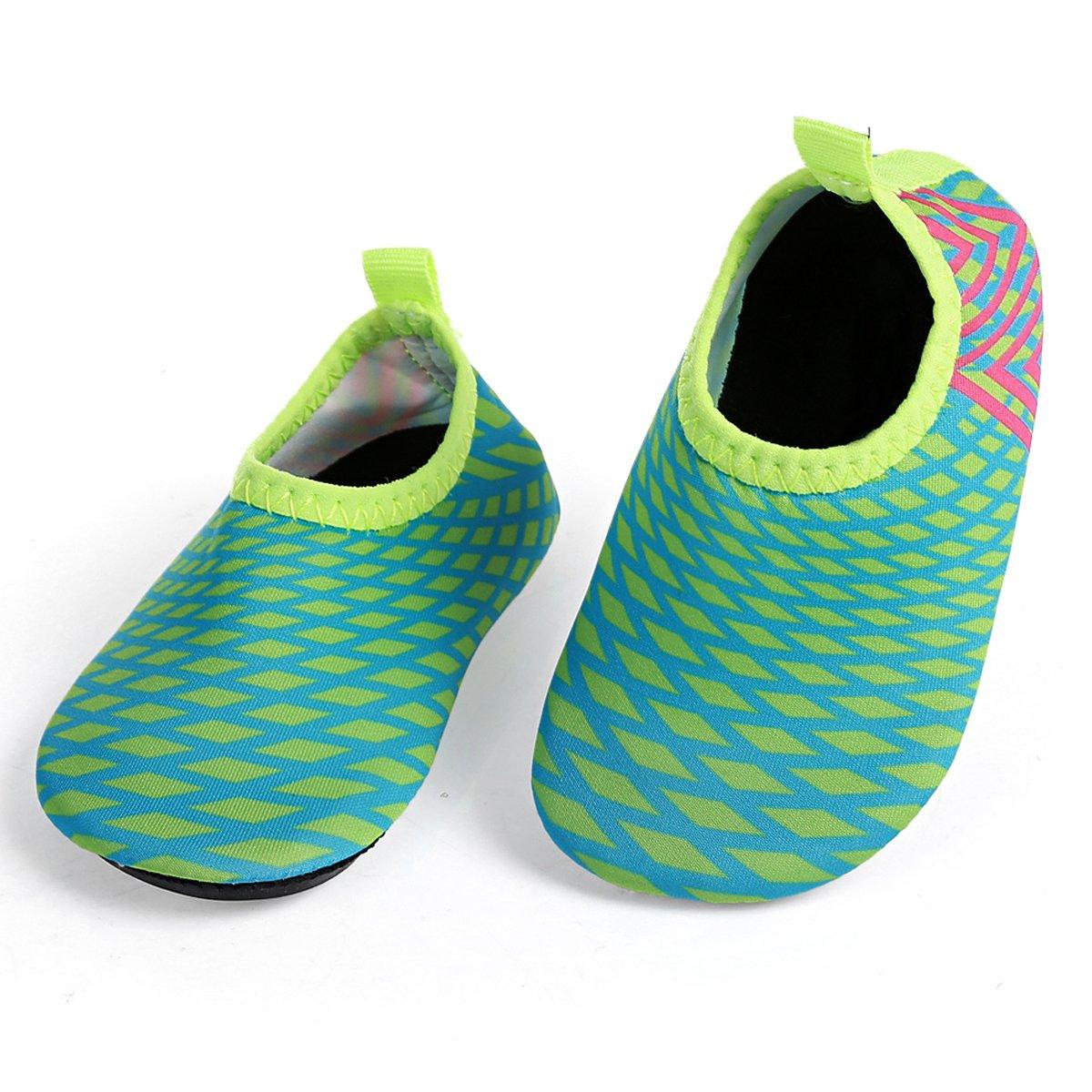 L-RUN Baby Water Shoes Barefoot Skin Aqua Sock Swim Shoes Beach Swim Pool L-RUN-LYE1-Black-19-20