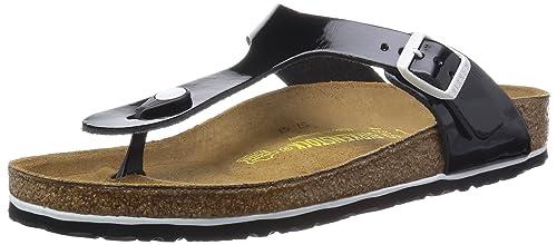41b30ae2 Birkenstock Classic Gizeh - Sandalias de Cuero para Mujer: Amazon.es: Zapatos  y complementos