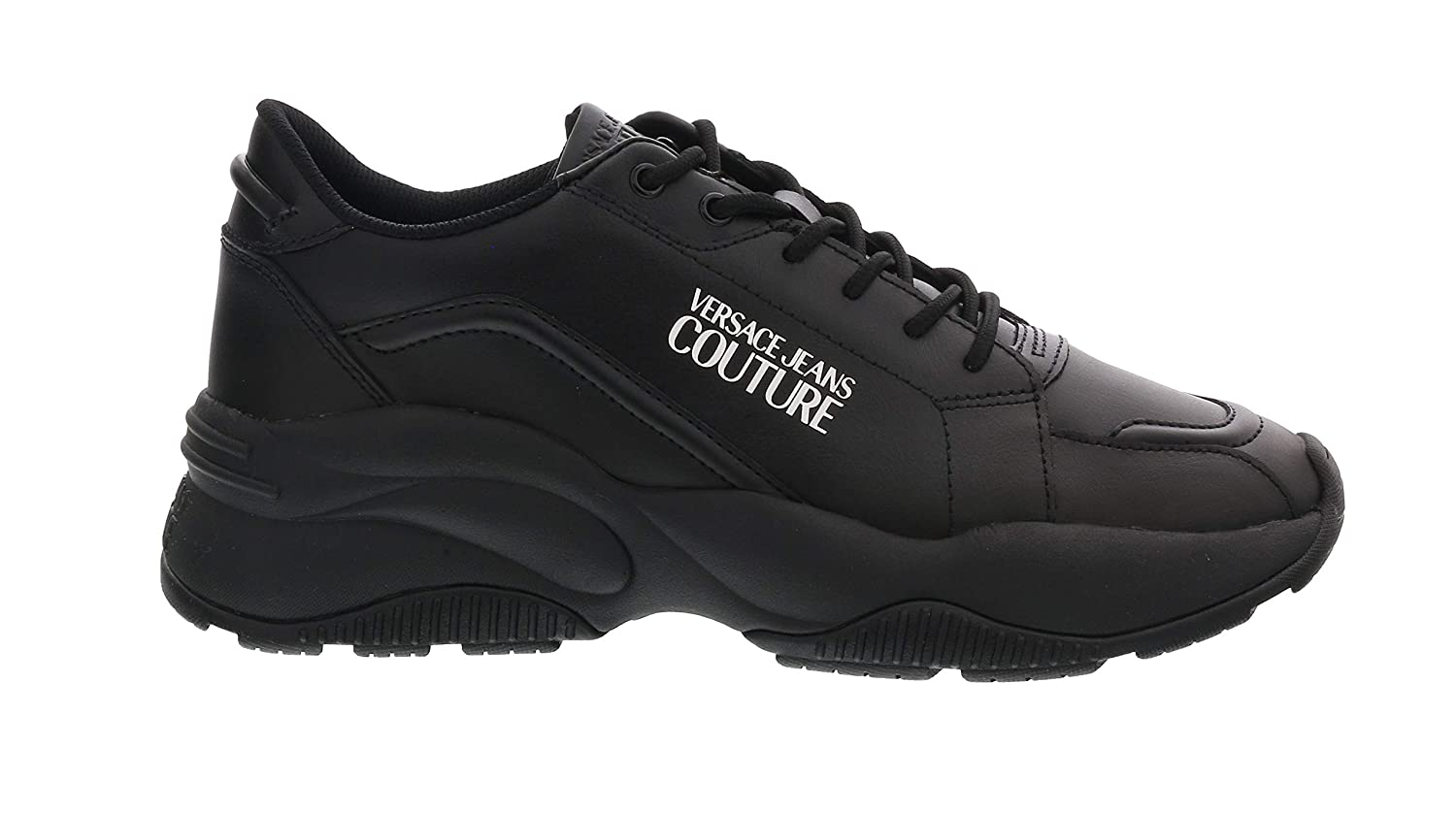 for Mens Versace Jeans Couture Black Leather Extreme Fashion Chunky Sneakers
