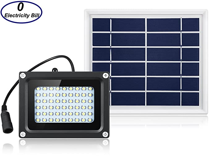 Delicieux Solar Outdoor Lights 400 Lumens Outdoor Indoor Solar Flood Light 54 LED  Solar Security Lights Solar