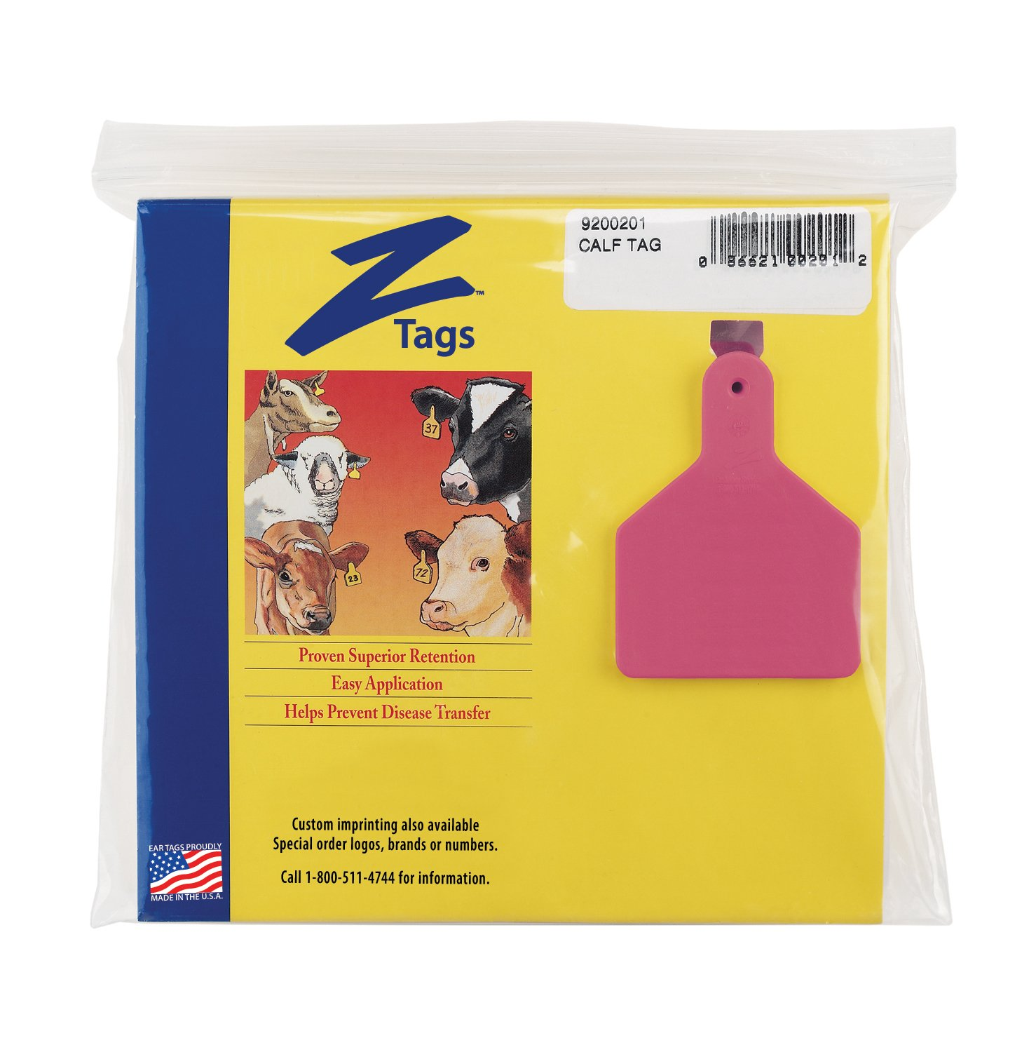 Z Tags 25 Count 1-Piece Blank Tags for Calves, Pink by Z Tags