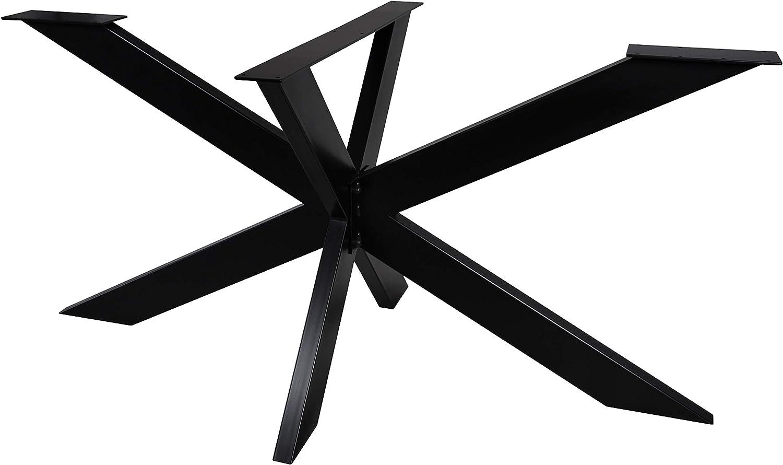 Magnetic Mobel Tischgestell Spider Tischbeine Kreuzgestell Schwerlast Tischkufen Stahl Metall Esstisch Schreibtisch Konferenztisch einfache Montage Anthrazit