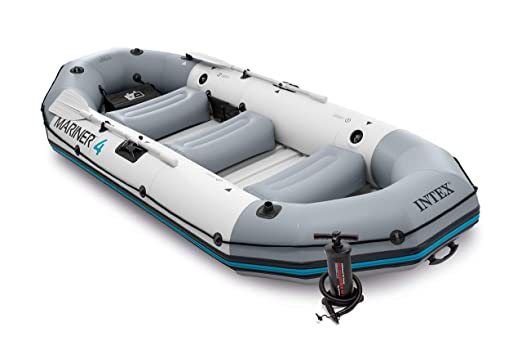 Intex 68376NP - Barca Hinchable Mariner 4 con 2 Remos 328 x 145 x ...