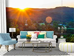 Self Adhesive Wallpaper Roll Paper arkansas sunset sunrise sunrays eureka springs spring moons and Removable Peel and Stick Wallpaper Decorative Wall Mural Posters Home Covering Interior Film