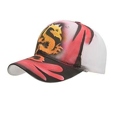 2019 New Hand-Painted Dragon Baseball Cap Men Women Casquette Outdoor Sun Hat Gorra Animales