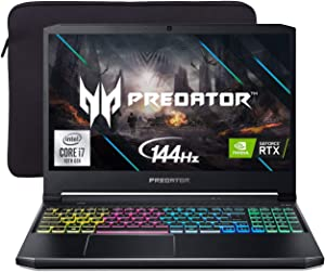 "Acer Predator Helios 300 144Hz Gaming Laptop, 15.6"" 3ms IPS FHD, RTX 2060 OC, i7-10750H 6-Cores up to 5.00 GHz, 32GB RAM, 1TB SSD, Killer Network, RGB KB, WiFi 6, Mytrix Sleeve, Win 10"