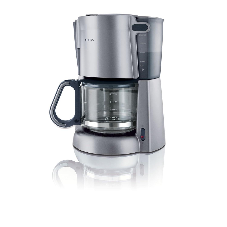 Philips HD7583 1.3L 1000W Coffeemaker, Steel silver, 0.88 m, 50 ...
