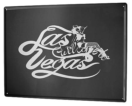 Cartel Letrero de Chapa Gira Mundial Las Vegas: Amazon.es: Hogar