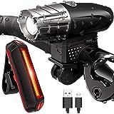 Sendowtek Luces Bicicleta Delantera y Trasera, Luz Bicicleta Recargable USB, Linterna Bicicleta IPX5 Impermeable con 4…