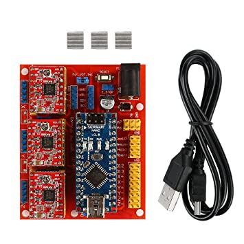 Amazon.com: SainSmart Arduino CNC Kit Cnc Shield V4 + Nano ...