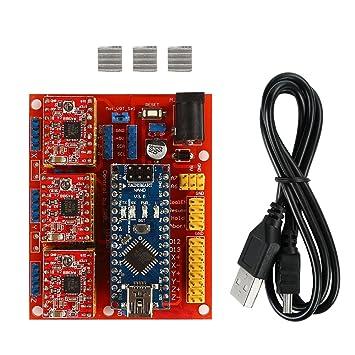 Amazon.com: SainSmart Arduino CNC Kit Cnc Shield V4 + Nano ...