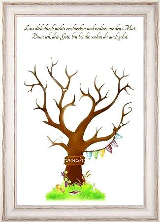Personalisiertes Geschenk Zur Taufe Fingerabdruck Baum