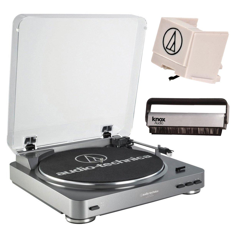 Audio Technica AT-LP60USB Turntable w/ Additional ATN3600L Replacement Stylus & Knox Carbon Fiber Vinyl Brush