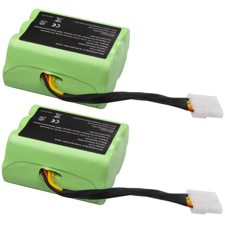 Futurebatt 14.4V 4000mAh High Capacity Battery for Neato XV-11 XV-12 XV-14 XV-15 XV-21 XV-25, XV Essential, XV Signature Pro Robotic Vacuum Cleaners Neato Battery 945-0005 205-0001 (NI-MH, 2 Pack) by Futurebatt