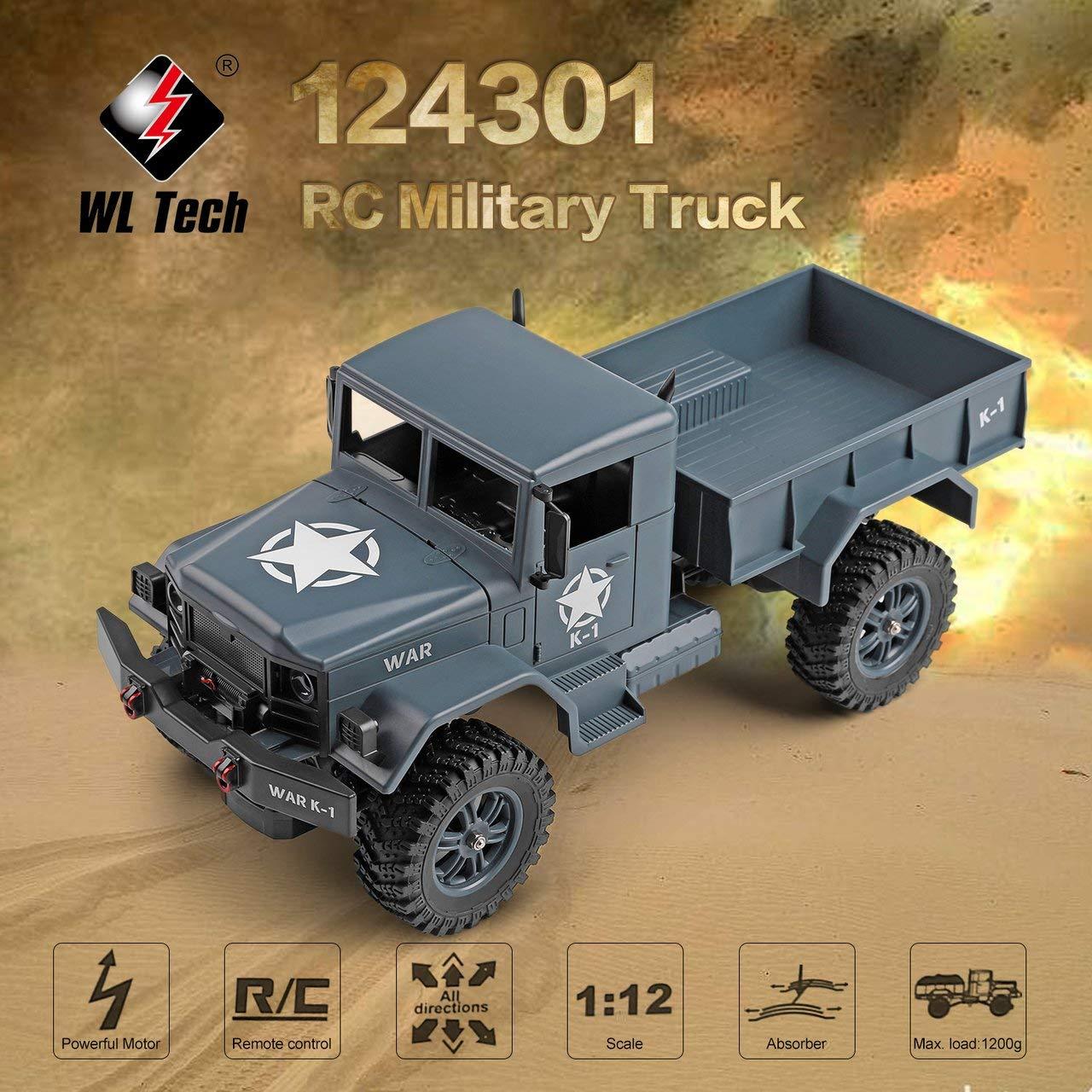 WLtoys 124301 2,4G 1/12 4WD Offroad RC Militär LKW Fernbedienung RC Auto