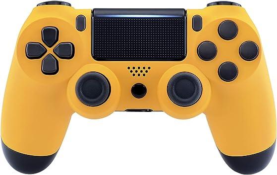 eXtremeRate Funda Delantera Carcasa Protectora de la Placa Frontal Cubierta Antideslizante para el Mando del Playstation 4 PS4 Slim Pro con JDM-040 JDM-050 JDM-055 Amarillo: Amazon.es: Electrónica