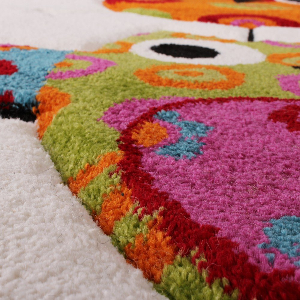 Kinderteppich eule  Kinder Teppich Niedliche Eulen Creme Blau Orange Grün, Grösse ...