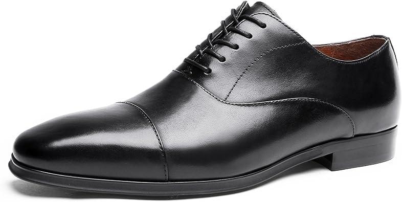 DESAI Homme Chaussures de Ville à Lacets Oxford Noir 44 EU 44 CN