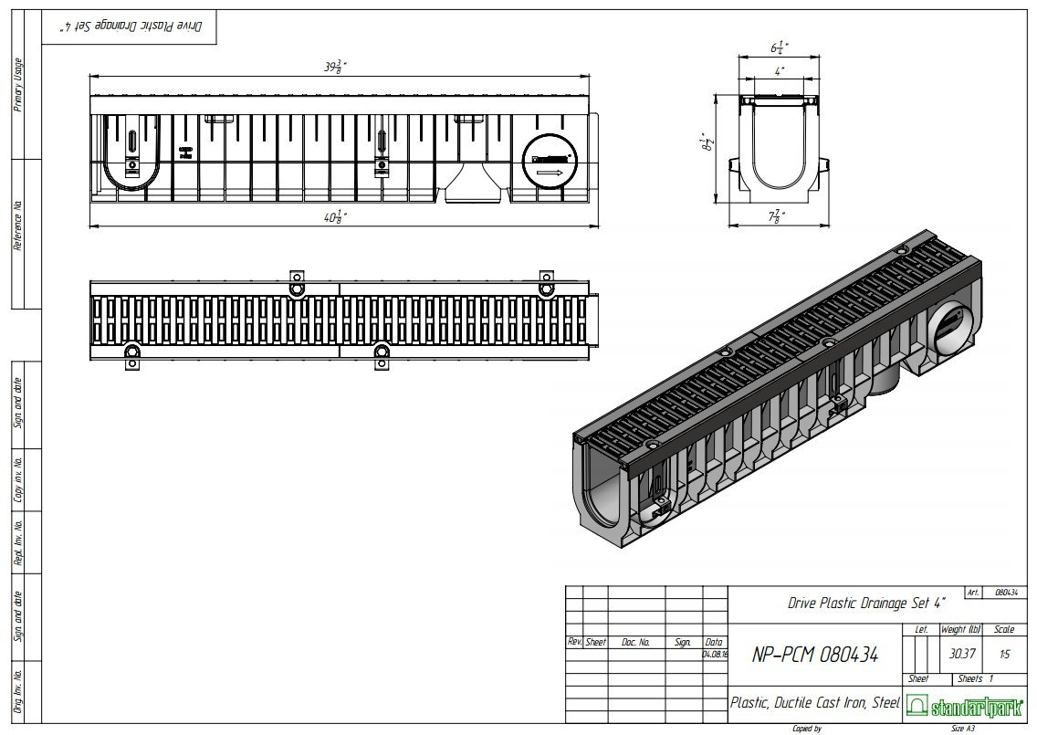 Standartpark 4 Inch Trench Drain Cast Iron Complete Set Finished With French Diagram Take Me Back To Pipe