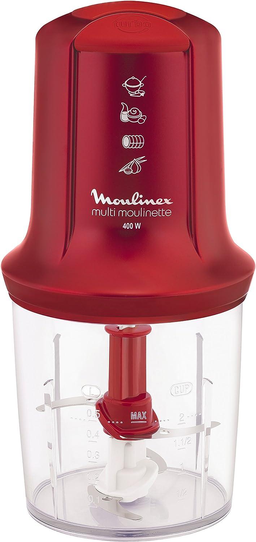 Moulinex AT712G Robot de cocina, 400 W, 0.5 L, plástico, color rojo: Amazon.es: Hogar