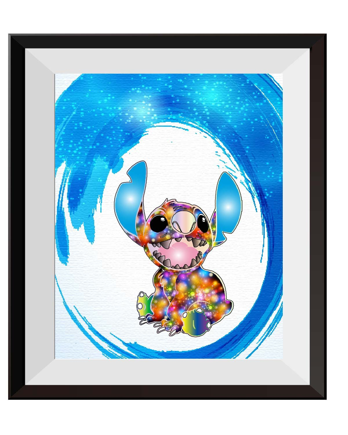 Uhomate Lilo and Stitch Ohana Stitch Tattoo Home Canvas Prints Wall Art Anniversary Gifts Baby Gift Inspirational Quotes Wall Decor Living Room Bedroom Bathroom Artwork C038 (8X10)