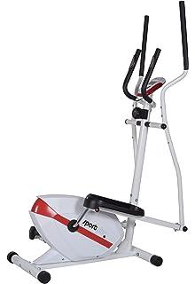 Crosstrainer de SportPlus con masa oscilante de aprox. 10 kg, sistema de freno magnético