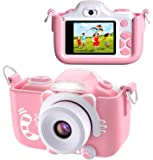 BlueFire Kids Digital Camera Mini 2 Inch Screen 16MP HD Child Camcorder Rechargeable Front and Rear Selfie Digital…