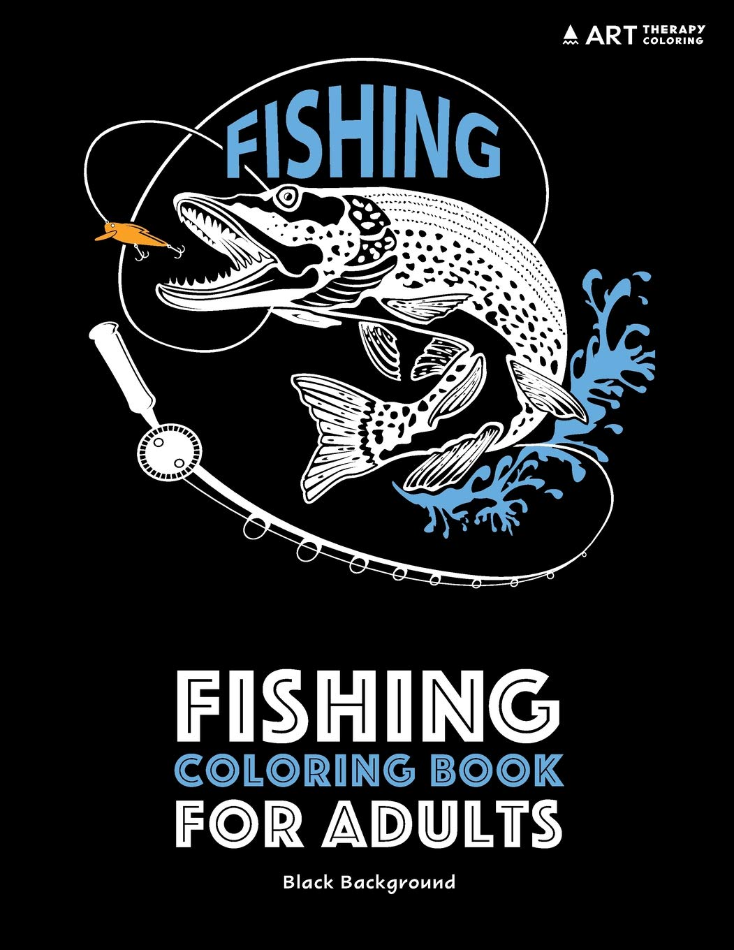 Fishing Coloring Book Adults Anti Stress product image