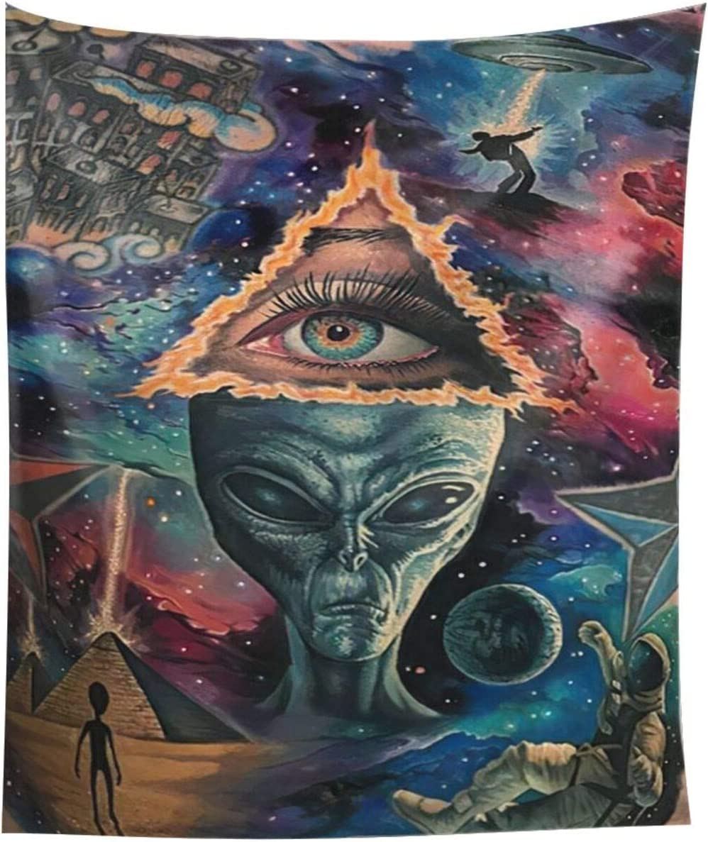 CUTEDY Galaxy planet alien ufo illuminati Wall decor Wall tapestry can be used as living room bedroom dormitory fashion home decor wall hanging home art 60x51 inches