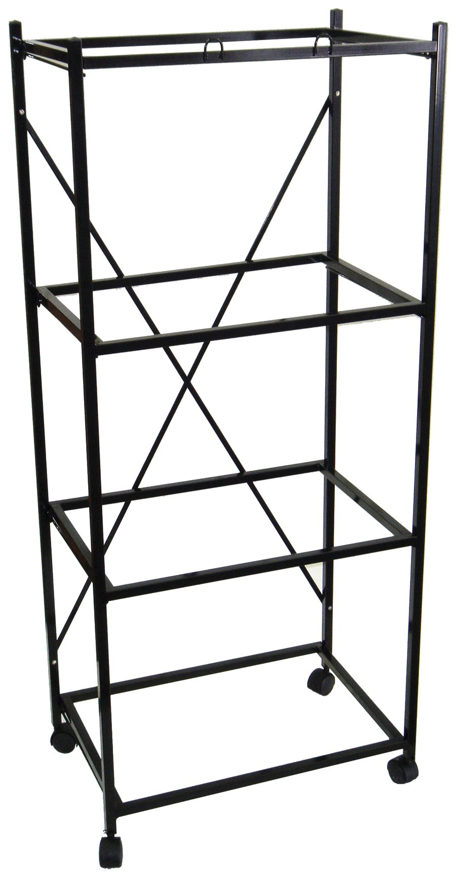 YML 4-Shelves Stand for Pet Cages, Black by YML