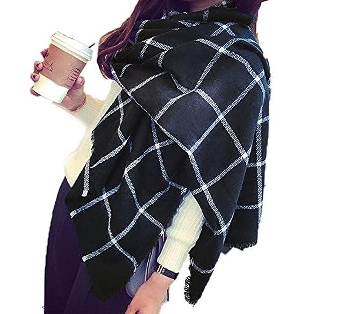 disponibilità nel Regno Unito 4933f 30f68 Minetom Sciarpa, Donna, Moda Donna Inverno Caldo Sciarpa Scialle Lungo  Morbidi Sciarpe Wraps