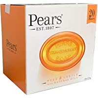 Pears 20 Bars Transparent Soap 20X125g Pure & Gentle With Natural Oils