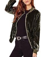 ZANZEA Damen Zip Langarm Kurz Dünne Bomberjacke Baseball Mantel Tops Cardigan Outwear