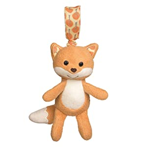 Apple Park Fox Stroller Baby Toy - for Newborns, Infants, Toddlers - Hypoallergenic, 100% Organic Cotton