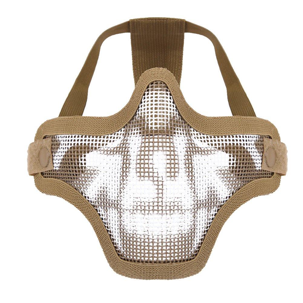 CHIC-CHIC Outdoor Stahl Maske halbe Gesichtsmaske taktische Maske ...