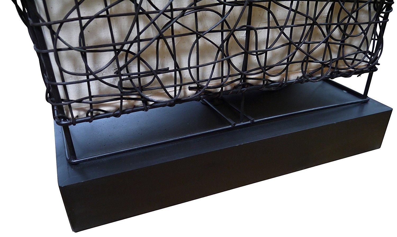 Frank Flechtwaren lampada da terra Sole /è realizzata in rattan marrone scuro