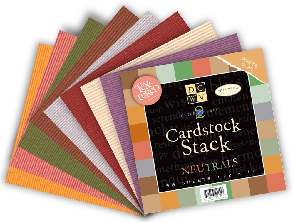 Match Makers Neutrals 12 x 12 inches 58 Sheets DCWV Cardstock Stack