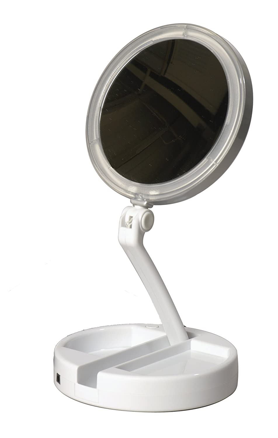 wall square us magnifying light lighting mirror pin drrw mounted with