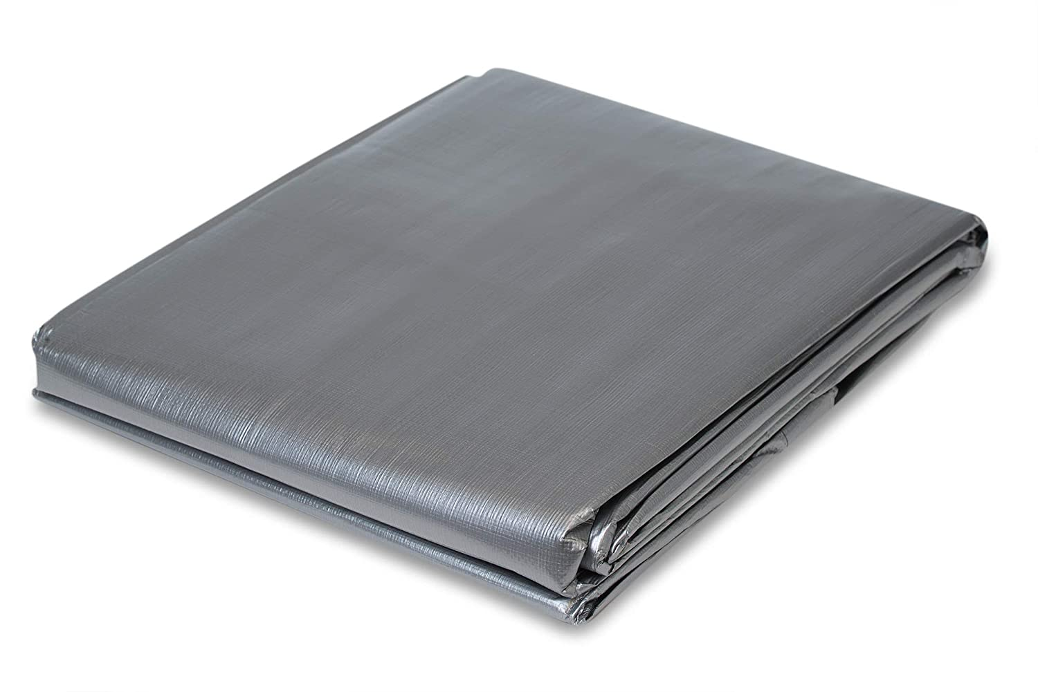 12 x 20 Heavy Duty Silver Poly Tarp CCS CHICAGO CANVAS /& SUPPLY