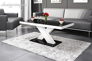 Wohnzimmertisch Schwarz Weis : Design couchtisch h schwarz weiß hochglanz highgloss tisch