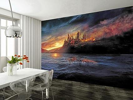 amazon com dizzy hogwarts harry potter photo wallpaper woven selfimage unavailable