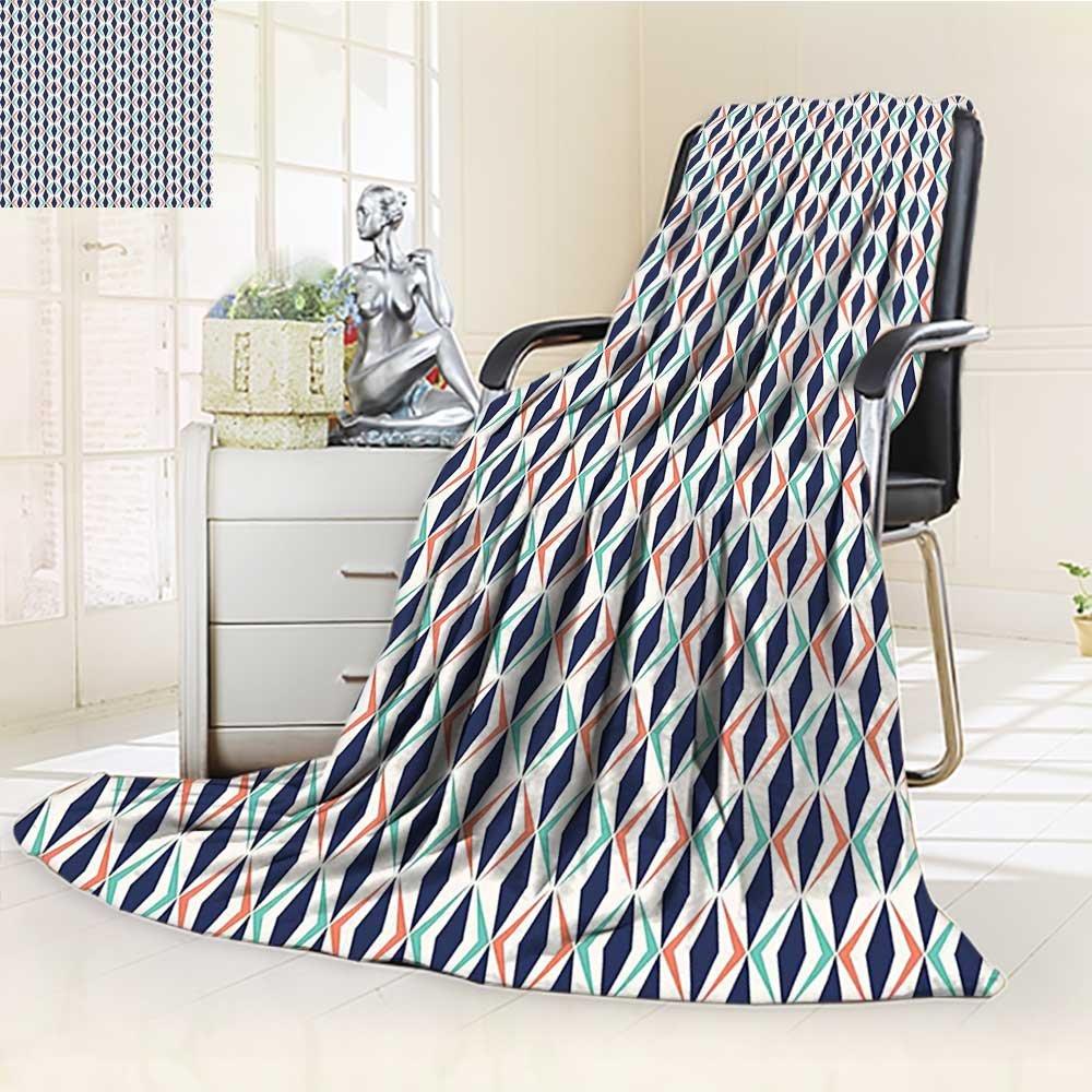 Throw Blanket Contemporary Smooth Lines Blurred Smock Art Flowing Rays暖かいマイクロファイバーすべてシーズン毛布ベッドやソファ 59